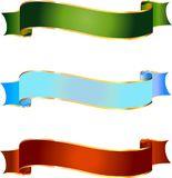 Verschiedene Fahnen für Design im Vektor Stockbild
