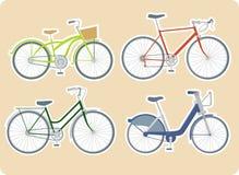 Verschiedene Fahrräder Stockfotos