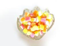Verschiedene Farbe des fruchtigen gummiartigen Gelees Stockbild
