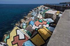 Verschiedene Farben in den Würfeln für Hafen Lizenzfreies Stockfoto