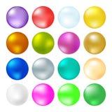 Verschiedene Farben der glänzenden Bälle lizenzfreie abbildung