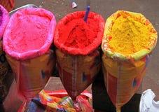 Verschiedene Farben für Verkauf in Indien Stockbild