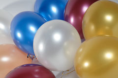 Verschiedene Farbenluftballone Stockfotografie