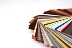 Verschiedene Farbenpalette. Stockfoto
