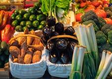 Verschiedene farbige Adern in einem traditionellen Markt in Bilbao, Spanien stockbilder