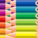 Verschiedene farbige Bleistifte Stockfotografie