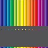 Verschiedene farbige Federn Stockfoto