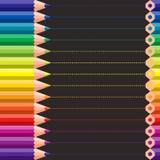 Verschiedene farbige Zeichenstifte Lizenzfreie Stockfotos