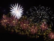 Verschiedene Feuerwerke Stockbild