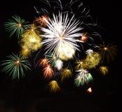 Verschiedene Feuerwerke Stockfotografie