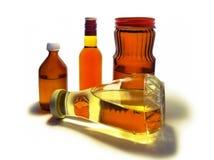 Verschiedene Flaschen Stockfotografie