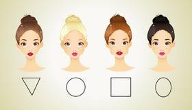 Verschiedene Formen des Gesichtes Stockfotografie