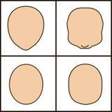 Verschiedene Formen des Gesichtes, Vektor icoka gemeißelter Entwurf lizenzfreie abbildung