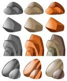 Verschiedene Formen des Steins Lizenzfreies Stockbild