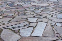 Verschiedene Formen und Farben der Pflastersteine Stockbild