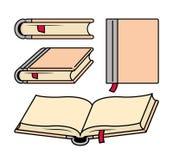Verschiedene Formen von Büchern Stockfoto