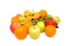 Verschiedene Früchte getrennt Stockbild