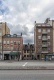 Verschiedene Gebäude-Fassaden Helsingborgs Stockfotografie