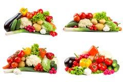 Verschiedene Gemüsesets Stockbilder