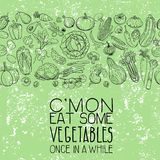 Verschiedene Gemüsezeichnungen Stockfoto