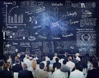 Verschiedene Geschäftsleute in einem Führungstraining Stockfoto