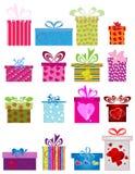 Verschiedene Geschenkkästen Lizenzfreie Stockfotos