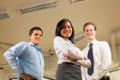 Verschiedene Geschäfts-Team-niedriger Winkel-Decke Stockfotos