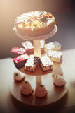 Verschiedene geschmackvolle Kuchen Lizenzfreies Stockfoto