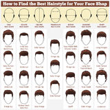 Verschiedene Gesichter und Haarschnitte vektor abbildung