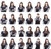 Verschiedene Gesichtsausdrücke Lizenzfreie Stockbilder