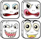 Verschiedene Gesichtsausdrücke Stockbild