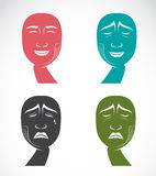 Verschiedene Gesichtsausdrücke Lizenzfreie Stockfotografie