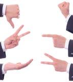 Verschiedene Gesten der Hand Lizenzfreies Stockbild