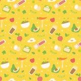 Verschiedene gesunde Nahrungsmittelnahtloses Muster lizenzfreie abbildung