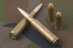 Verschiedene Gewehrkugeln Lizenzfreie Stockbilder