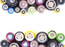 Verschiedene Größen von Lithium-Ionen-Batterien lizenzfreies stockbild