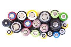Verschiedene Größen von Lithium-Ionen-Batterien lizenzfreie stockfotografie