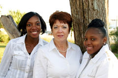 Verschiedene Gruppe Frauen lizenzfreies stockfoto