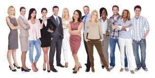 Verschiedene Gruppe von Personen Stockbild