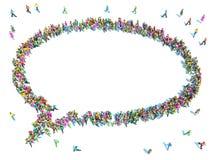 Verschiedene Gruppe von Personen zusammen erfasst Stockbilder