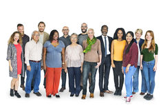 Verschiedene Gruppen-Leute-stehendes Konzept stockfotografie