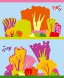 Verschiedene Herbstbäume vektor abbildung