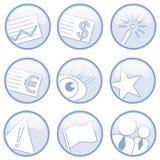 Verschiedene Ikonen lizenzfreie abbildung