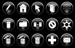 Verschiedene Ikonen Lizenzfreies Stockbild