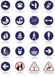 Verschiedene internationale Kommunikationszeichen. Lizenzfreies Stockfoto