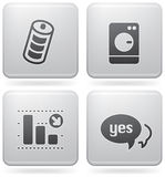 Verschiedene Internet-Ikonen Stockfotos