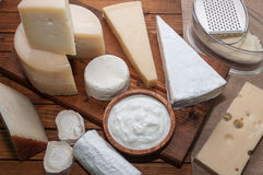 Verschiedene Käse Lizenzfreie Stockfotos