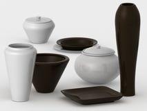 Verschiedene Keramik Lizenzfreie Stockfotos