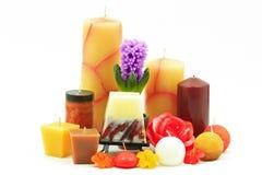 Verschiedene Kerzen Stockfotos