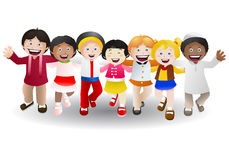 Verschiedene Kulturkinder Stockbild